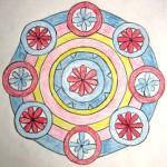 Mandala Blumen klein